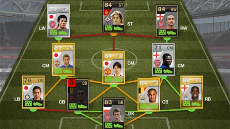 FIFA Ultimate Team hybrid squad