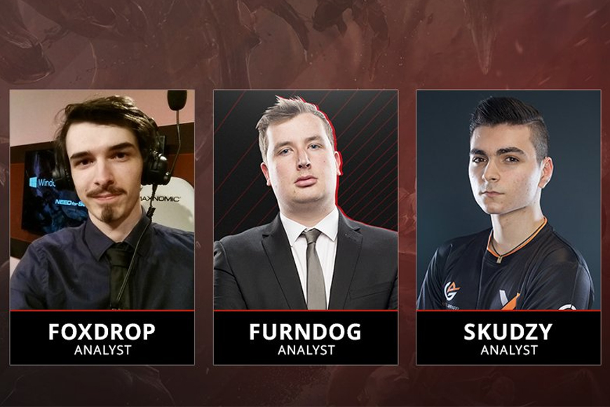 Foxdrop, Furndog and Skudzy join analyst desk for ESL LoL Prem final