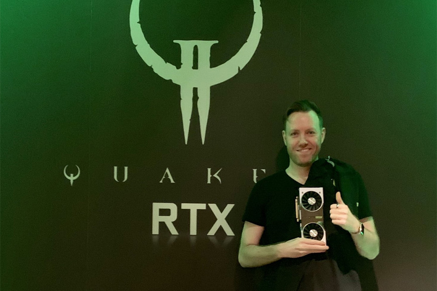 The day I got railgunned in the head by onscreen in a Quake
