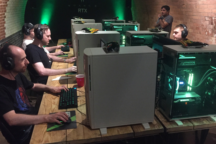 The day I got railgunned in the head by onscreen in a Quake II RTX tournament