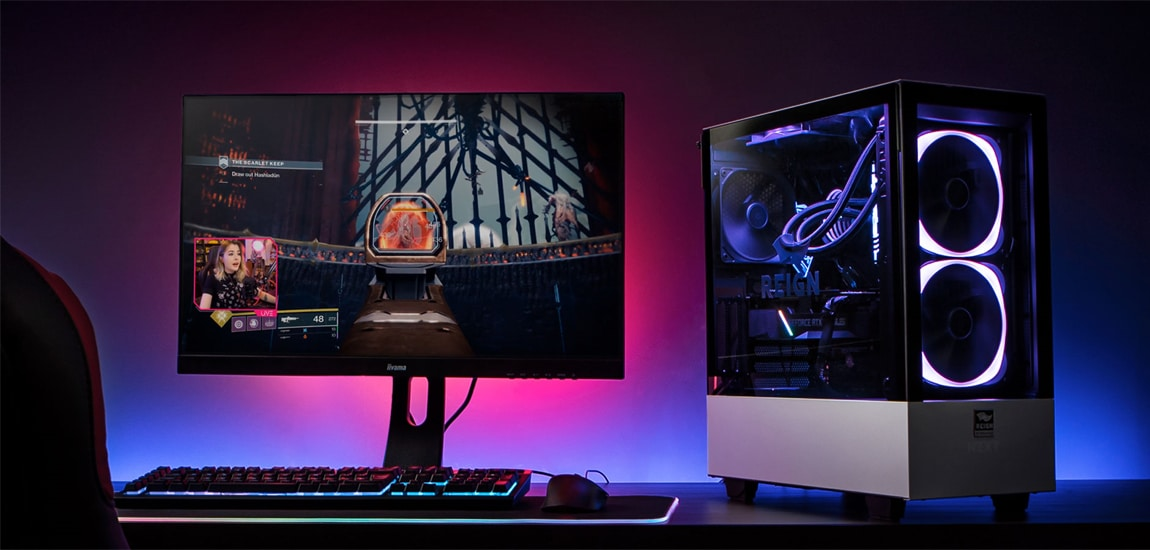 Novatech partner with UK Twitch streamer Leah to create custom Reign gaming PC