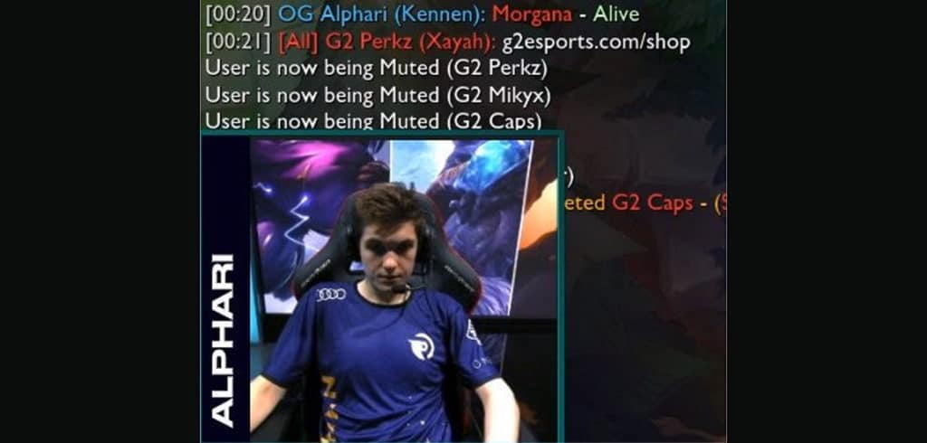 all chat removed alphari g2